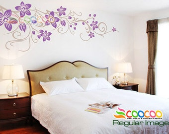 Wall Decal Sticker Removable DC0362 flower vine B