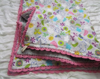 """Sale- Minky baby  blanket- 31"""" X 36"""" - Robert Kaufman's ' minky blanket- crib minky blanket- toddler blanket- large minky blanket-"""