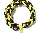 Bracelet black and yellow rubber bands mlb baseball nfl football