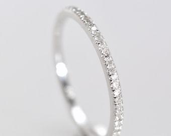 Full eternity Wedding Band, diamond band,  0.4 carat diamonds   P-076-1 full eternity