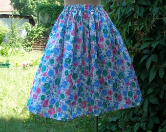 Skirt Suit Vintage / 2 PC Skirt Suit / Two Piece Skirt Suit / Womens Skirt Suit /  Floral / Size EUR36 / 38 UK8 / 10 /  Summer Suit