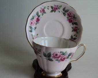 Vintage Tea Cup Colclough Pink Rose Teacup