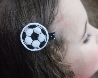 Soccer Ball Hair Clip- Meet Miss Goal