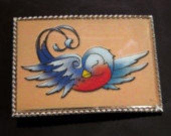 Blue Bird of Happiness Buckle & Belt