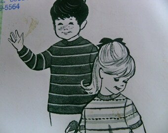 """1970 Sew-Knit-N-Stretch 306 Boys' or Girls' """"T"""" Shirt - Size 2, 4, 6 - Designed by Kerstin Martensson Sewing Pattern Supply Girls T Shirt"""