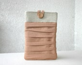 iPad Mini Case iPad mini Sleeve Pleated Ruched Linen Kindle