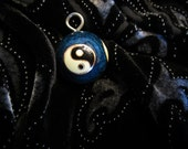 ON SALE - Beautiful Vintage Cloisonne Yin Yang Chime Ball Pendant