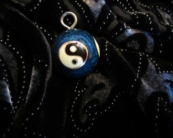 ON SALE - Beautiful Vintage Cloisonne Yin Yang Chime Ball Pendant