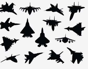 Fighter Jet decals - set of 15