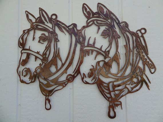 Draft Horse Head Metal Wall Art Country By Sayitallonthewall