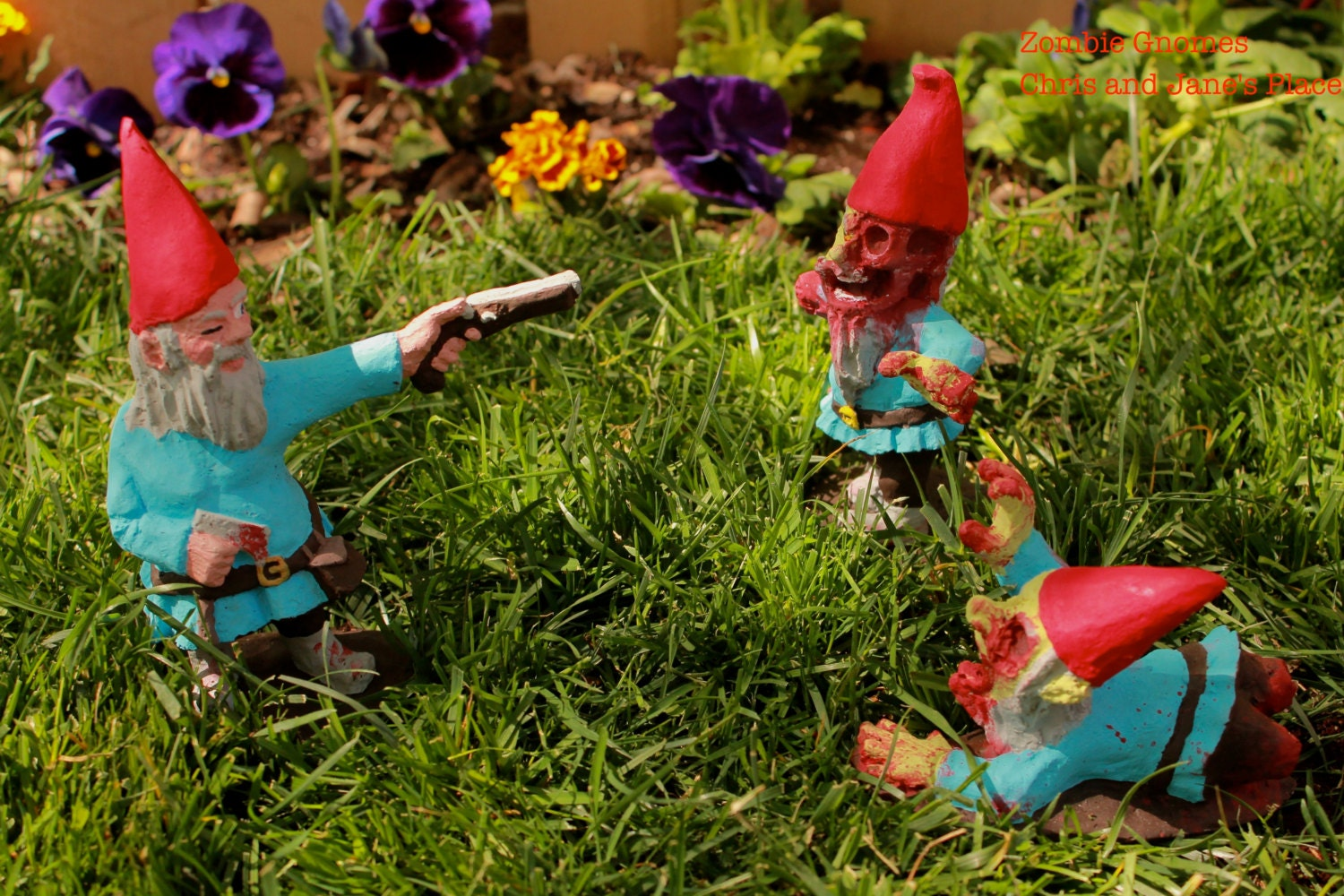 Gnome In Garden: Zombie Gnomes: Collection By ChrisandJanesPlace On Etsy