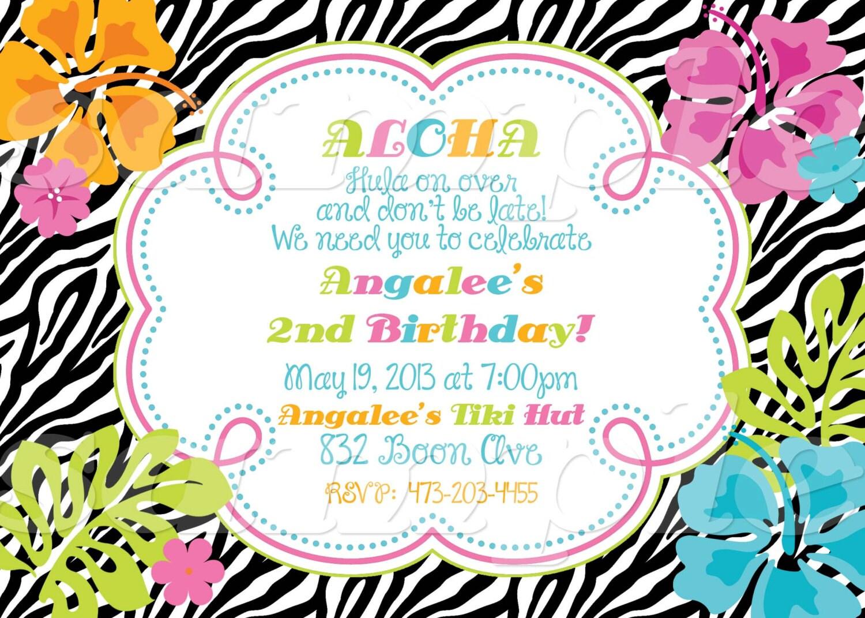 Hawaiian Invitation Template as nice invitation design