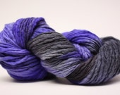 Thick and Thin Yarn Slub TTS(tts) Handdyed  Fine Merino 66tts12023 Witch Hat 1