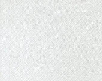 Half Yard Architextures Crosshatch in White, Carolyn Friedlander, Robert Kaufman Fabrics, 100% Cotton Fabric, AFR-13503-1 WHITE