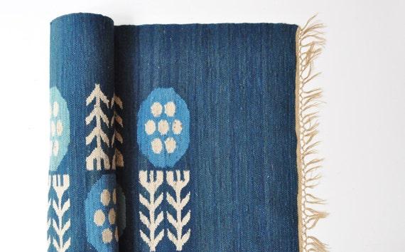 Mid-Century Geometric Rug - Handwoven Vintage Rug - Scandinavian Style