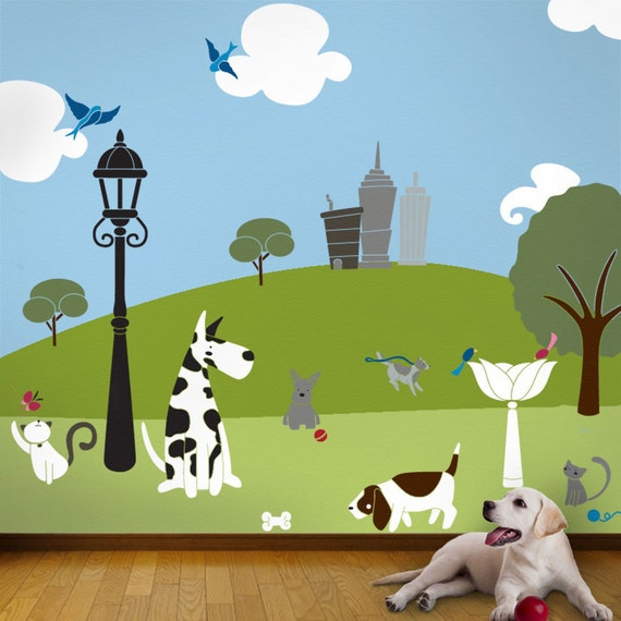 Tree Stencils For Animal Park Wall Mural Baby Amp By