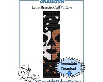 Bead Pattern Loom(Bracelet Cuff)-Shattered