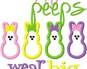 Easter Sweetest Candy Bunny Embroidered Shirt
