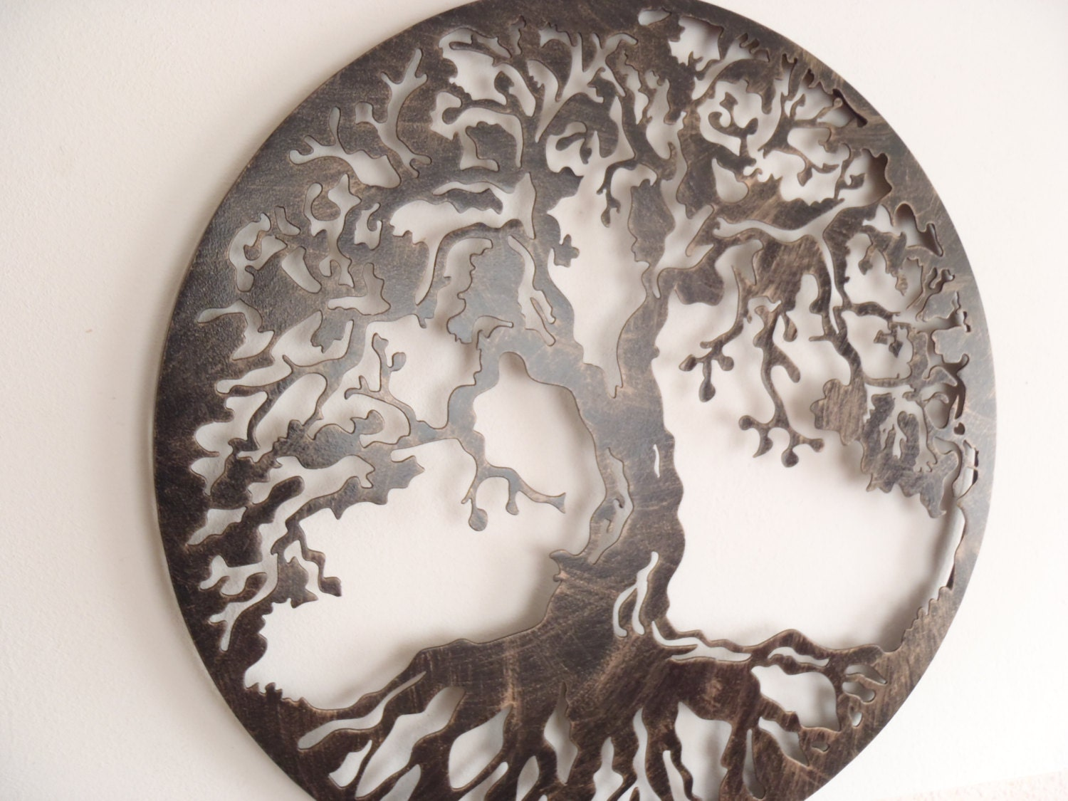 60 cm 23 5 tree of life framed antique look metal - Decoration mural en metal ...