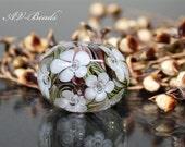 AV-Beads handmade Lampwork Flowerbead SRA