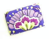 Business Card Holder - Floral in purple, lavender, green, and yellow