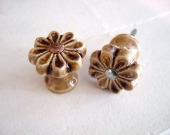 Set of Six Flower Power Cabinet Knobs