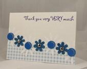 Thank You Very Much handmade card