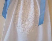 Lacy Blue and White Pillowcase Dress