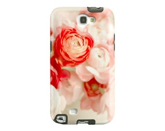 Flower Samsung Galaxy S5 Case, Galaxy S6, Note 2 case, pretty samsung galaxy s4 case, pink flowers, ranunculus, floral, samsung phone case