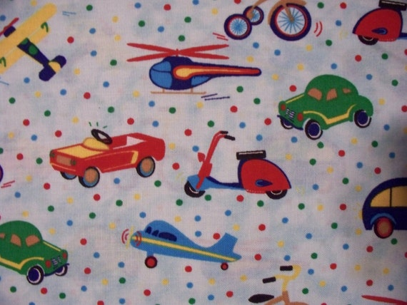 Antique kids toys pedal cars airplane tricycle more cotton for Childrens airplane fabric
