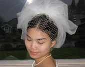 Bubble veil with Russian net/birdcage veil/cage veil/wedding veils