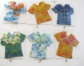 Decorative  Decorated Magnets Tropical Hawaiian Shirts-Handmade-U Choose Colors