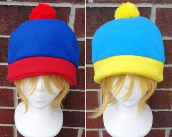 Stan, Cartman, or Craig Tucker South Park Costume Hat - Fleece Hat Adult, Teen, Kid - A winter, nerdy, geekery gift!