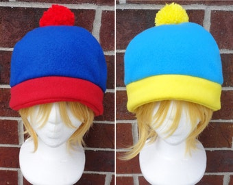 Stan, Cartman, or Craig Tucker South Park Costume Hat - Fleece Hat Adult, Teen, Kid - A winter, Christmas, nerdy, geekery gift!