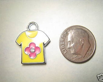 Cute Baby Clothes Pink flower shirt Charm or Pendant