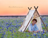 Patchwork Tent Photography prop - Ivory Cream
