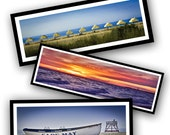 Custom Order... Set of 3 Seashore Panoramic Prints for Home Decor  - Fine Art Photography -  15 x 5 inches - Free US Shipping