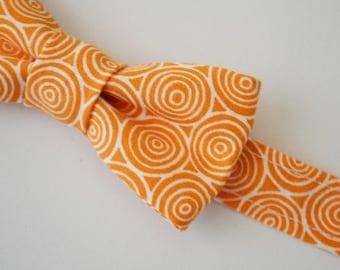 SALE- Children's Bow TieOrange With White Circles