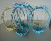 ViNtAgE Pastel Wicker Easter Baskets/Blue/Yellow/Green