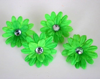 Neon Green 2 inch Gerber Daisy (set of 4)was 1.10