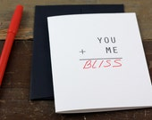 Valentines Letterpress Card / Fill in your own word / White
