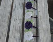 6 Paper Rose Boutonnieres - Wedding Paper Flower Groomsmen Boutonnieres