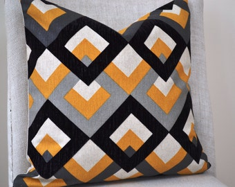 Decorative Throw Pillow, 18 by 18 inch, Cosmopolitan Ebony (Cover only)
