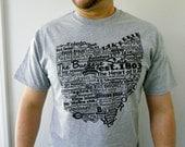 Ohio TShirt Ohio T Shirt State of Ohio Tshirt Ohio Word Art The Buckeye State Ohio Tee Ohio State Shirt Mens Ohio T Shirt