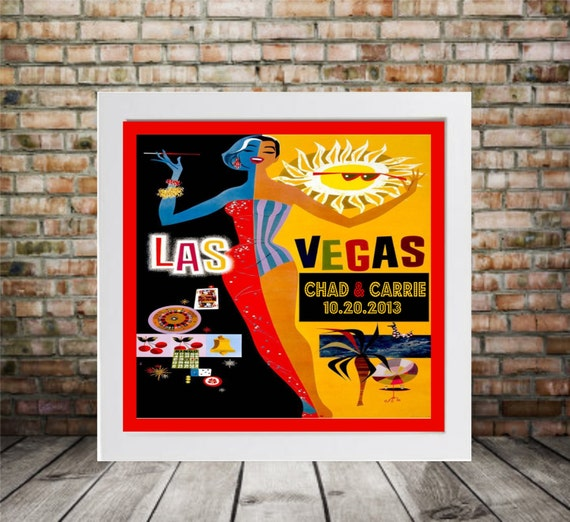 Art Deco Wedding Gift : Art Deco Wedding Gift Personalized Las Vegas Print - FRAMED ART ...