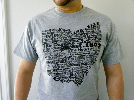 Ohio tshirt ohio t shirt state of ohio tshirt ohio word art for Ohio state t shirts
