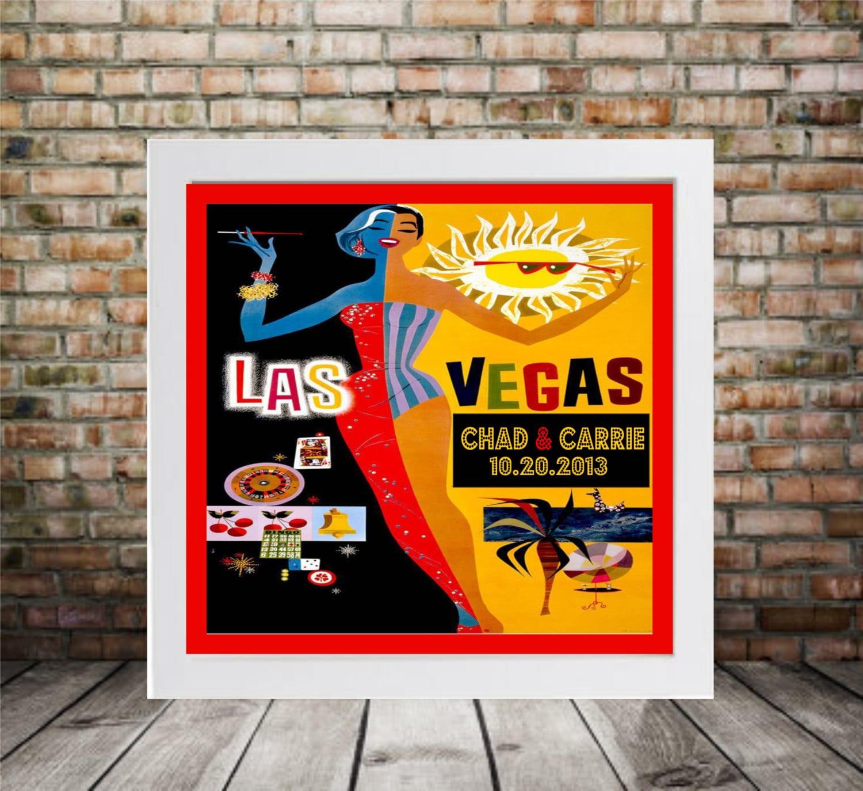 art deco wedding gift personalized las vegas print framed art. Black Bedroom Furniture Sets. Home Design Ideas