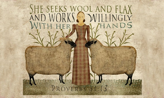 Wool and Flax Art Print 11x14 or 12x18