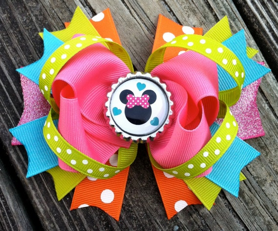 hair bows style minnie mouse hair bow boutique style summer minnie 8915 | il 570xN.430148969 hwhc