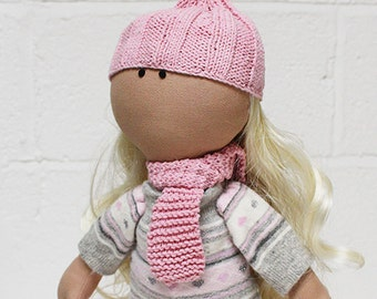 Katerina-Fabric Doll, Cloth Doll, Fabric Doll
